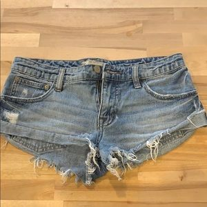 Free People Washed Denim Shorts